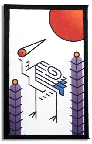 Heroku January crane card